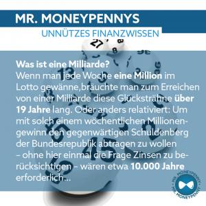 Mr.MoneyPenny Bild Milliarde